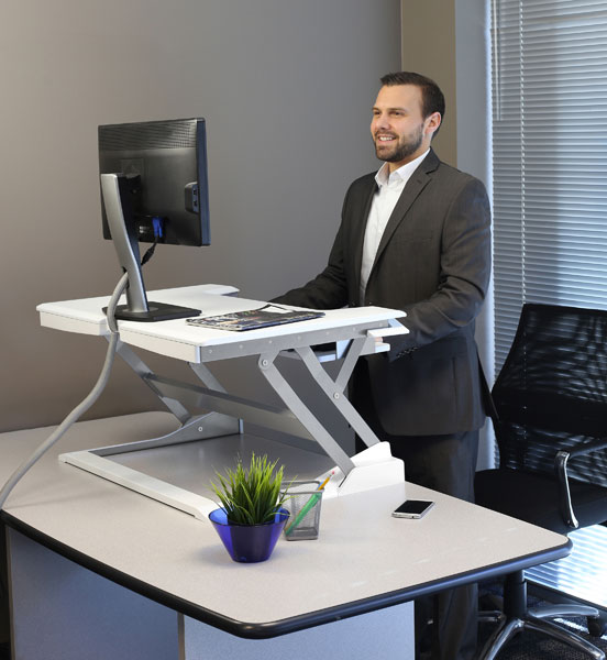 Workfit T Sit Stand Desktop Workstation Black Datanet