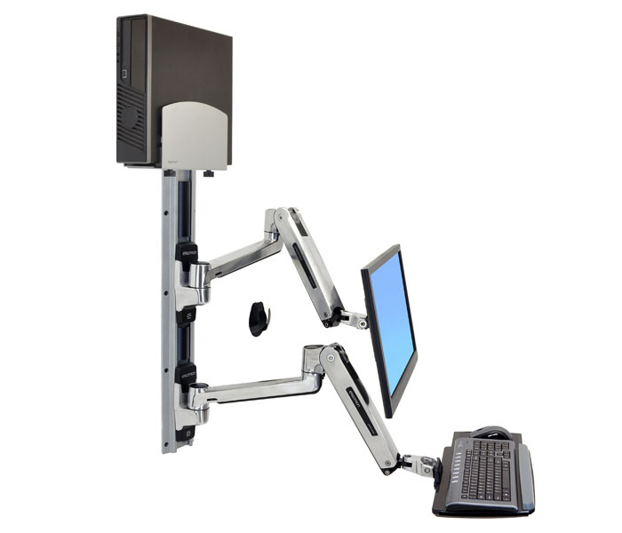 Ergotron Lx Sit Stand Wall Mount System Datanet