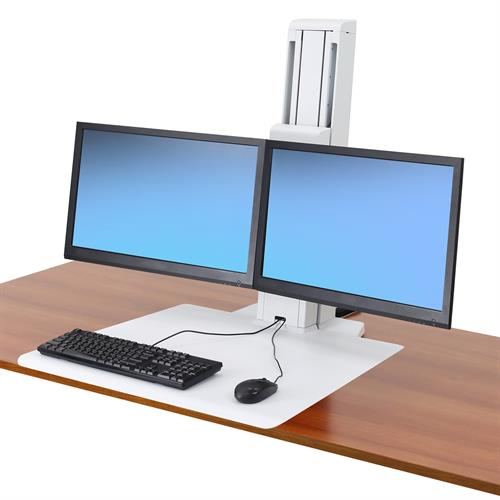 how to adjust tension on ergotron dual monitor stand