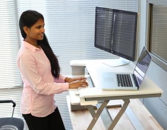 WorkFit-T, Sit Stand Desktop Workstation