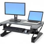 WorkFit-T, Sit-Stand Desktop Workstation (black)