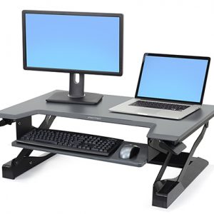 WorkFit-T, Sit-Stand Desktop Workstation (black)