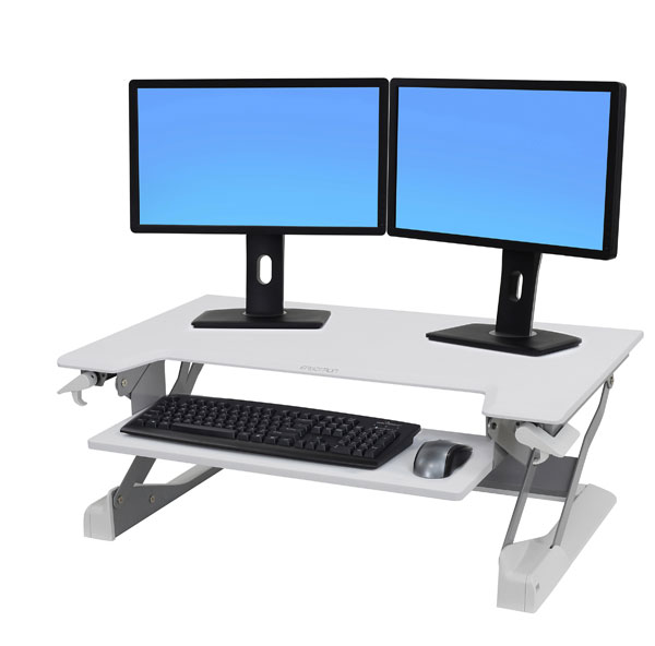 Ergotron-White-height-adjustable-desk