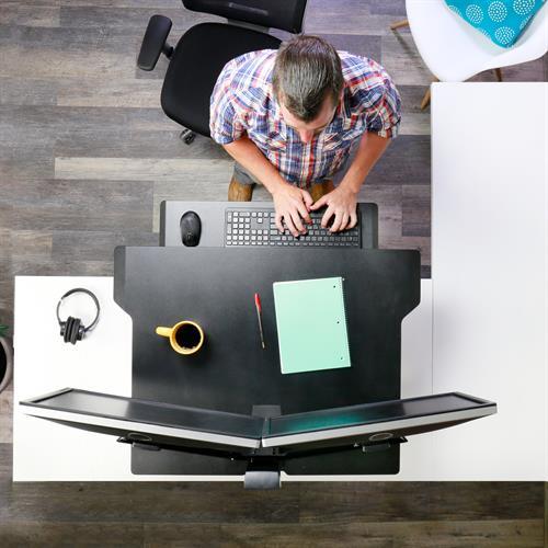 Ergotron WorkFit-TX Standing Desk Converter Bird's Eye View