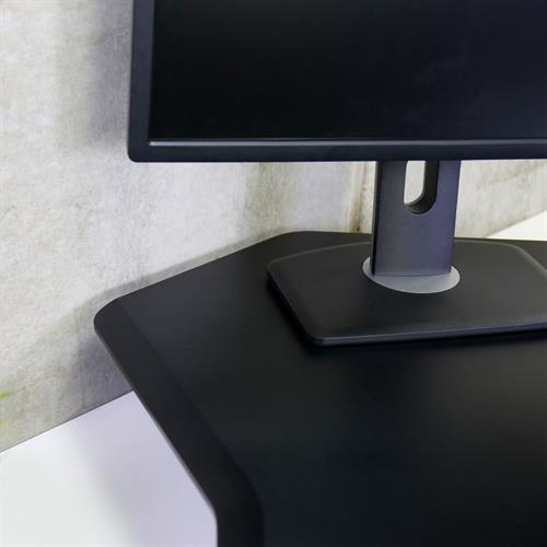 Ergotron WorkFit™ Corner Standing Desk Converter Edge View
