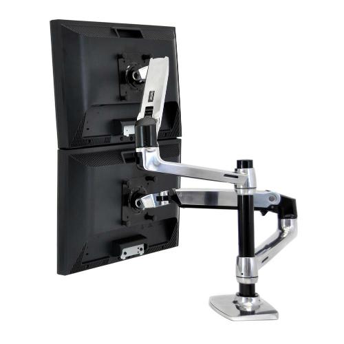 Ergotron LX Arm, Extension and Collar Kit Polished Aluminium Assembled