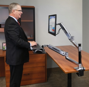 WorkFit-LX, Sit Stand Desk Mount System