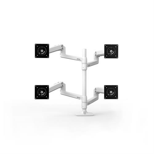 Ergotron LX Dual Stacking Arm Tall Pole White Four Arm