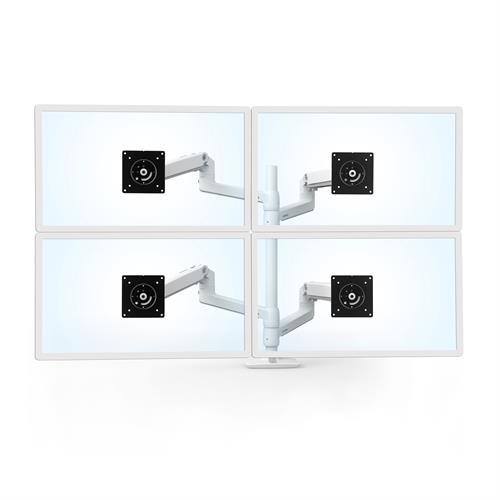 Ergotron LX Dual Stacking Arm Tall Pole White Four Pole Monitor