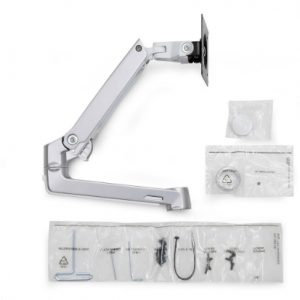 Ergotron LX Arm, Extension and Collar Kit Polished Aluminium