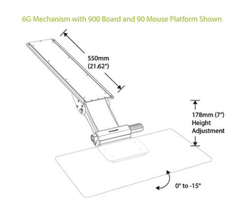 Humanscale's Keyboard System Dimensions