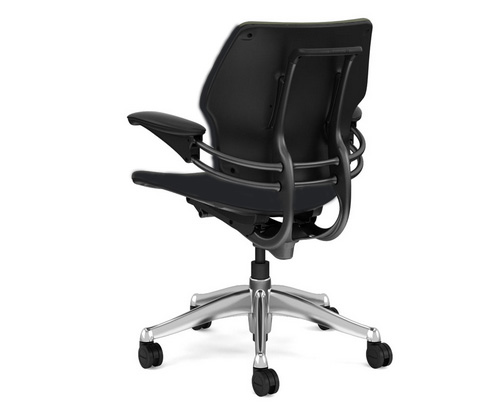 Humanscale Smart Chair back view no Headrest