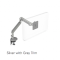 Humanscale M2 Monitor Stand Silver with Grey Trim