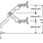 Humanscale M8 Monitor Stand Dimensions