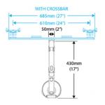 Humanscale M8 Crossbar Dimensions