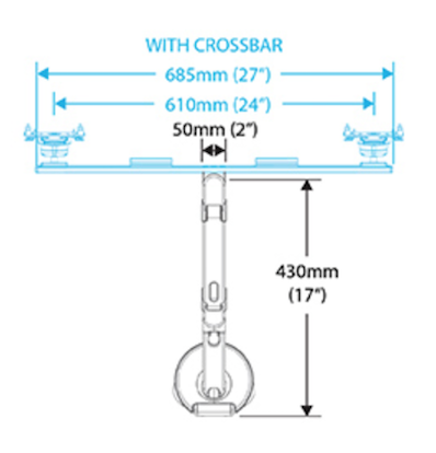 Humanscale M8 Crossbar Dimensions