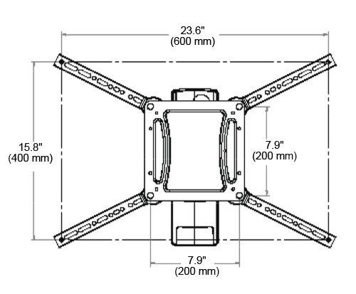 Ergotron Interactive Arm HD Dimensions