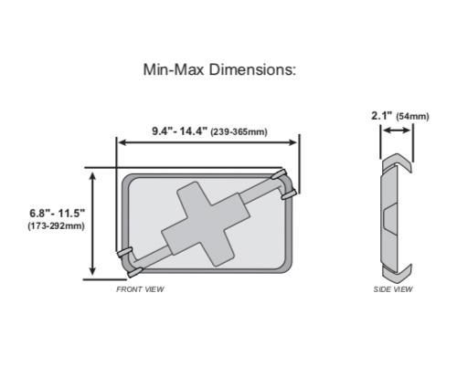 Ergotron Lockable Tablet Mount Dimensions