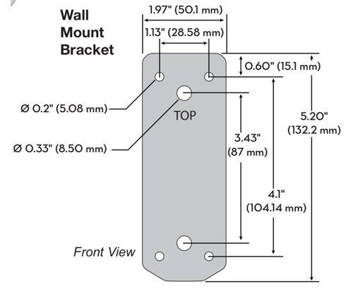 Ergotron MXV Wall Monitor Arm Bracket Dimensions