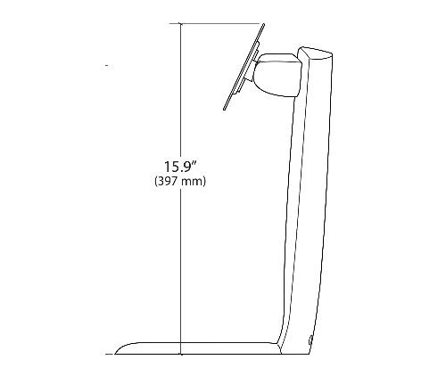 Ergotron Neo Flex LCD Stand Side Dimensions