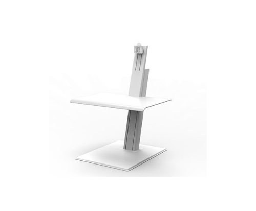 Humanscale QuickStand Eco Single Screen White Standing Desk