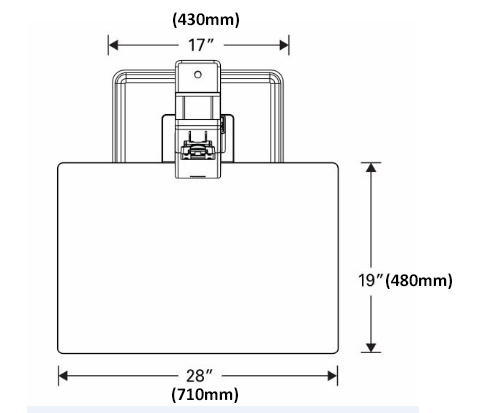 QuickStand Eco Single Screen Front Dimensions