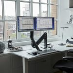 QuickStand Lite Dual Screen Sit to Stand Desk