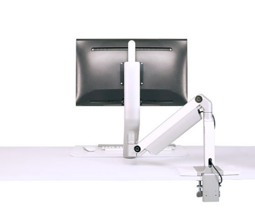 QuickStand Lite Single Screen Sit to Stand Desk Back View