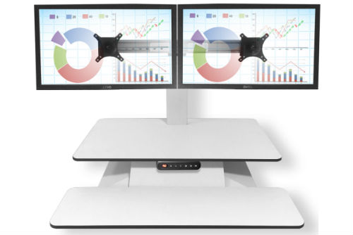Electric Height Adjustable Desk with two Monitors