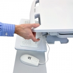 Ergotron Styleview cart with Height Adjustability for Healthcare