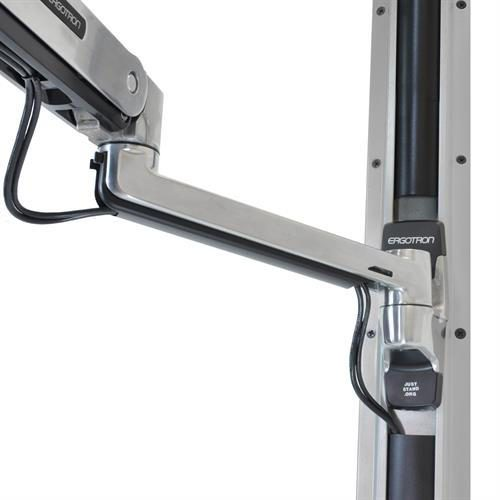 StyleView®_Sit_-_S_and_Combo_Arm_with_Worksurface_(polished_aluminium)