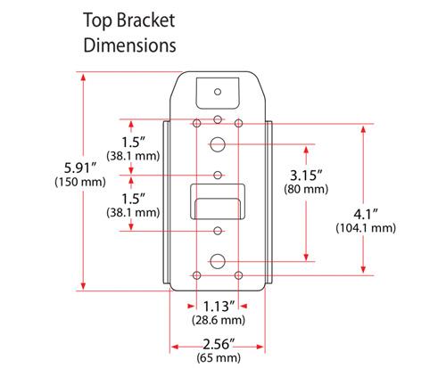 Ergotron Universal CPU Holder Top Bracket