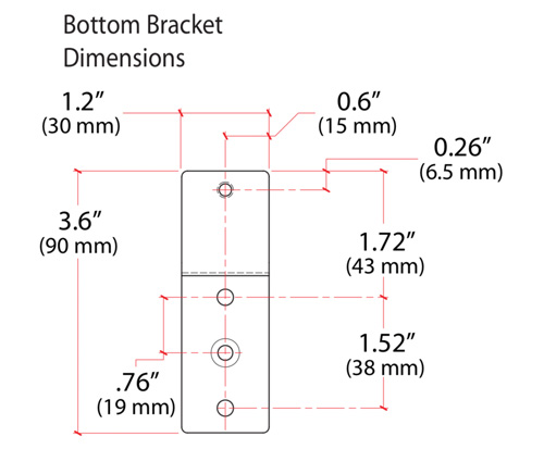 Ergotron Universal CPU Holder Bottom Bracket