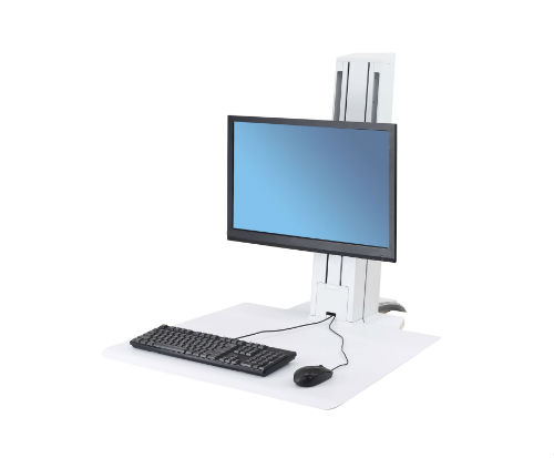 Ergotron WorkFit-SR Standing Desk White