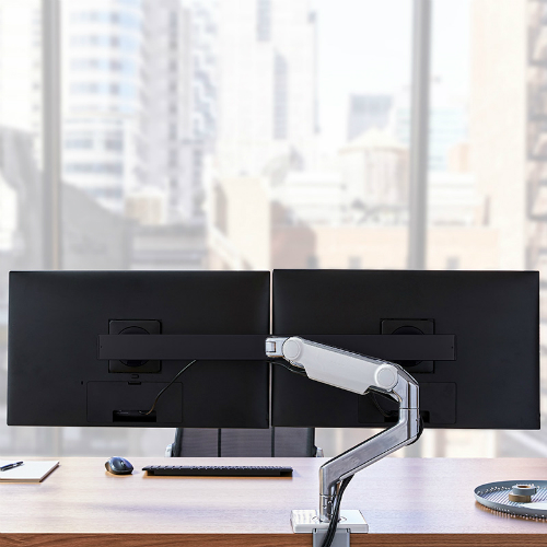 Humanscale M8.1 Monitor Arm Dual Monitor View