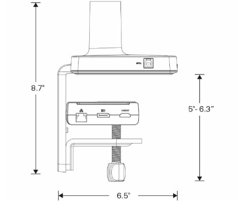 Humanscale M/Connect Docking Station Specs Spide