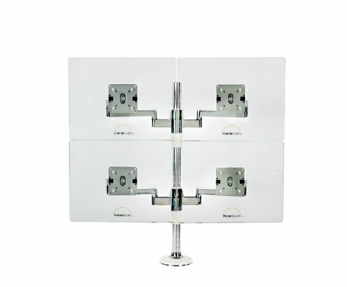 Humanscale M/Flex Multi-Monitor Arm System Four Monitor