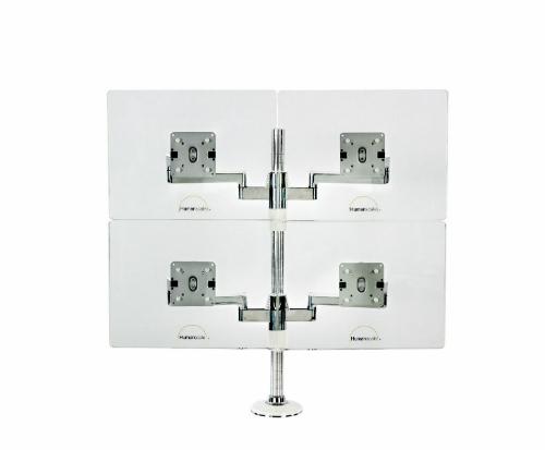 Humanscale M/Flex Multi-Monitor Arm System Four Monitor
