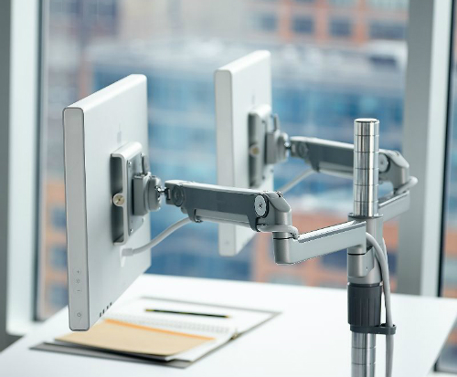 Humanscale M/Flex Multi-Monitor Arm System Two Arm Back