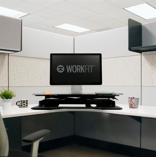 Ergotron WorkFit™ Corner Standing Desk Converter Office Desk
