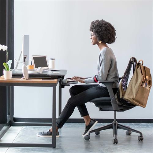 Ergotron WorkFit-TX Standing Desk Converter Sitting Office