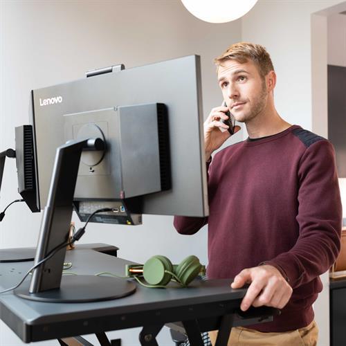 Ergotron WorkFit-TX Standing Desk Converter Standing Back View